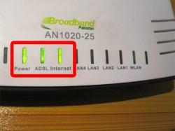PTCL AN1020-25 Light Status