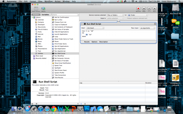 Automator: Delete an individual file permanently in Mac OSX