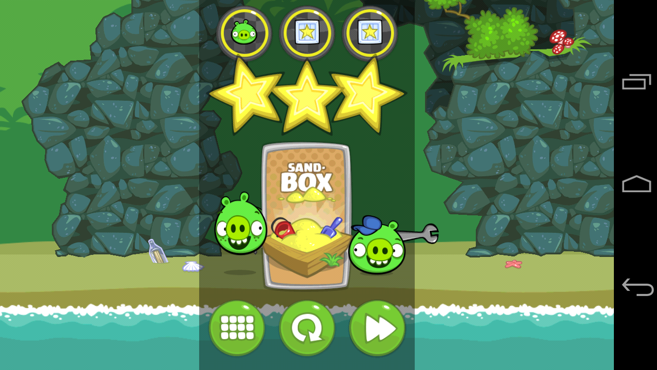 three stars in bad piggies