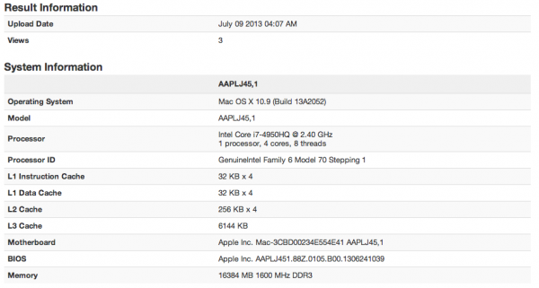 Retina Macbook Pro i7 spotted