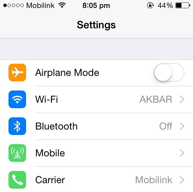 Create a personal hotspot in iOS 8