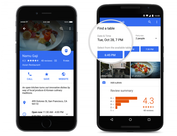 Google-Maps-OpenTable