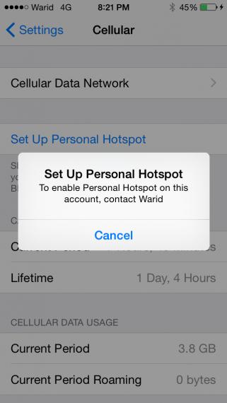 Warid-LTE-Personal-Hotspot-Blocked